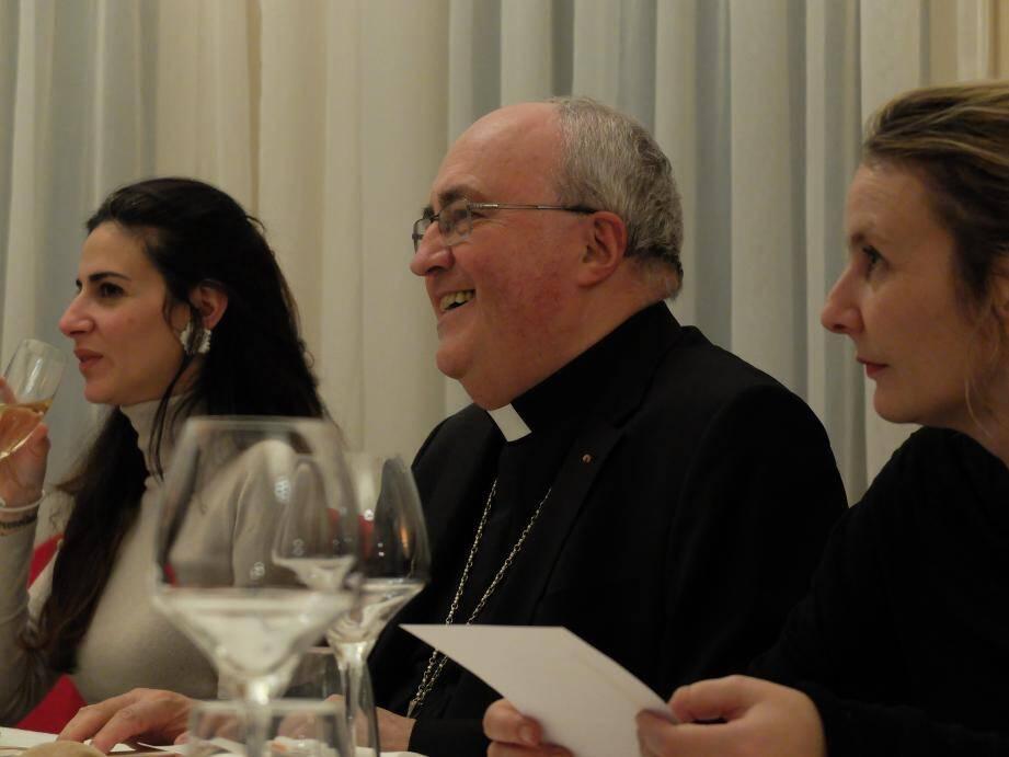 Mgr Bernard Barsi, l'archevêque de Monaco, mercredi soir lors d'un dîner avec la presse à l'occasion de la fête de Saint-François de Sales, patron des journalistes.