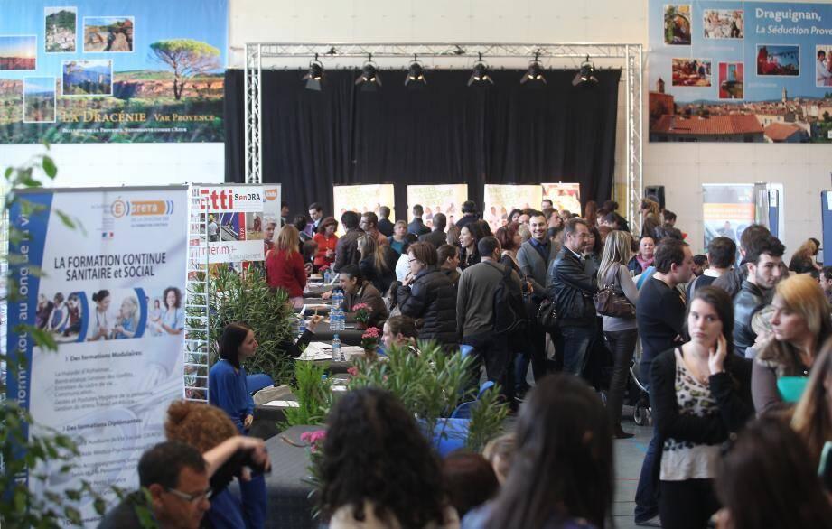 Le Forum de l'emploi à Draguignan.