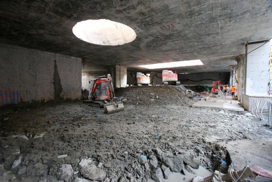 Visite des travaux de la ligne 2 du Tramway sur le site de la futur station Durandy.