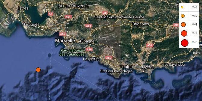 Un séisme a touché la région, près de Marseille, ce matin.
