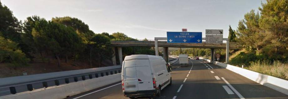 L'A50 en direction de Toulon (illustration).