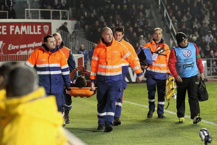 La protection civile en intervention au Stade Mayol