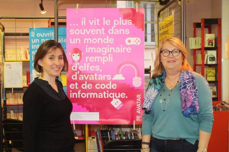 Carole Fayet et Marie-Thérèse Kujundic attendent vos créations.