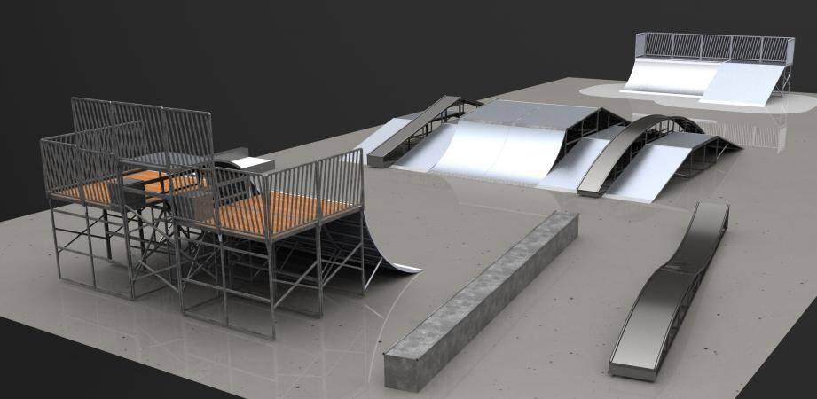 Installé en 2004, le Skatepark actuel a bien vécu, la commune va investir 89 700 euros pour la mise en place de plusieurs modules flambant neuf.