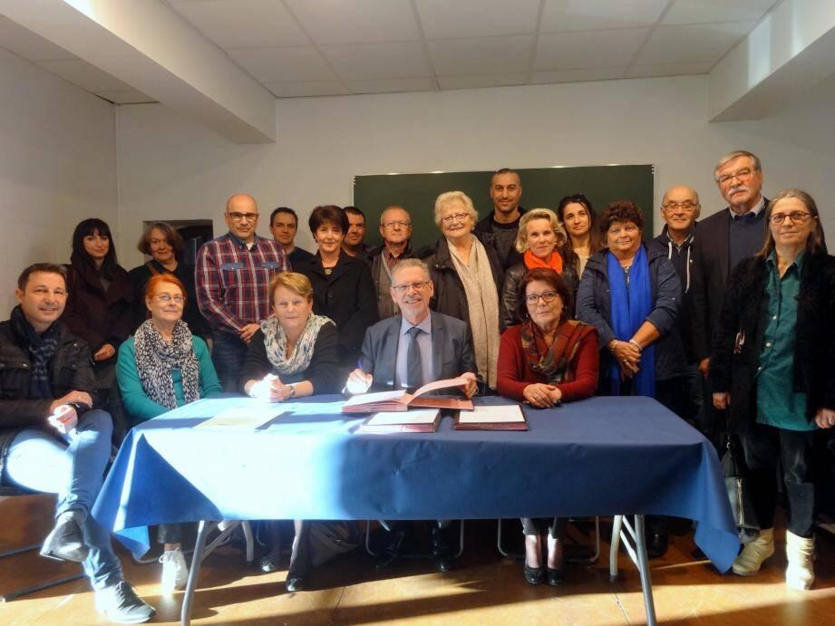 De nombreux partenaires ont signé la convention PRE.