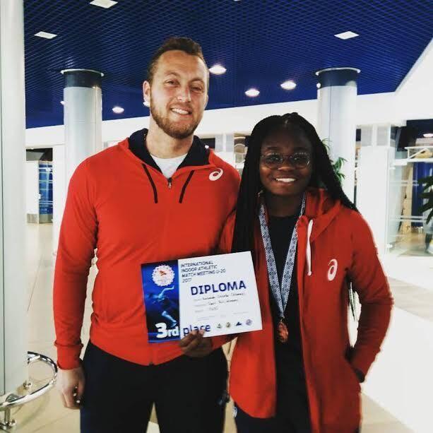 Estelle Katende et son entraîneur, Yan Tosin, étaient à Minsk, le week-end dernier, pour un match international qui a vu la Cannoise grimper sur le podium.