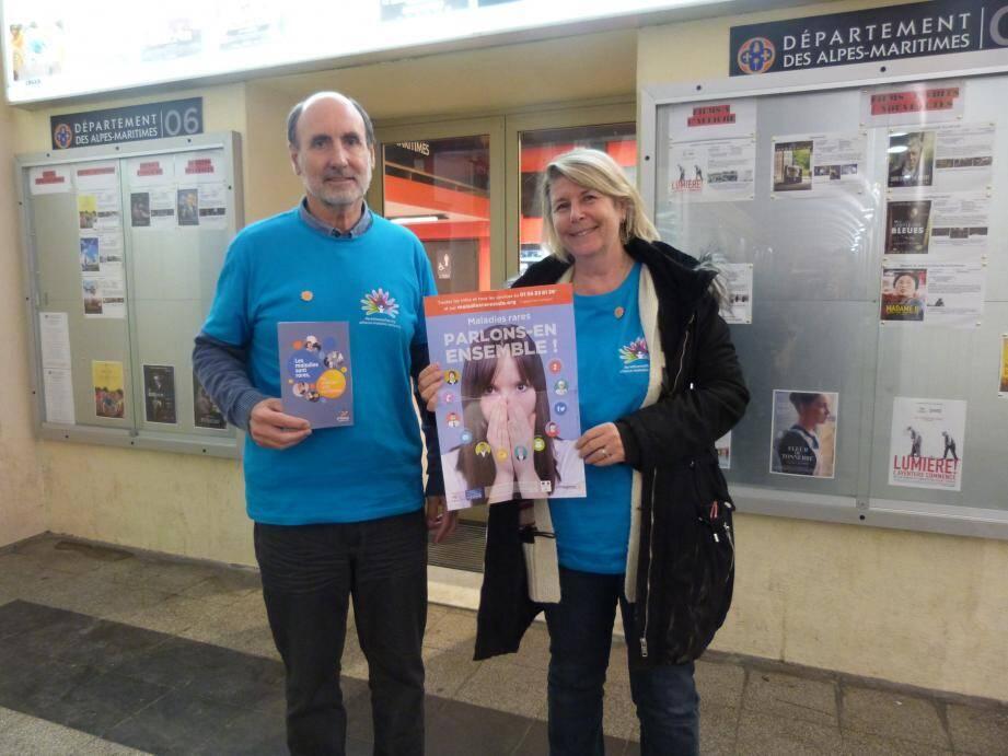 Florence Vettier-Sinquin, déléguée pour les Alpes-Maritimes de l'Alliance maladies rares, cherche à informer le public sur cette problématique.(Photo Ax.T.