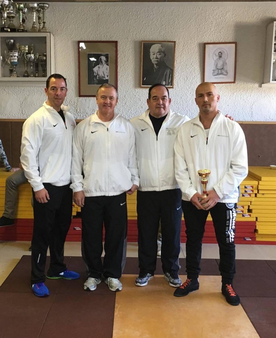 La belle équipe de l'ASM en force athlétique avec, de gauche à droite, Olivier Oumailia, Marc Krettly, Gérard Oumailia et Ladi Lekaj.