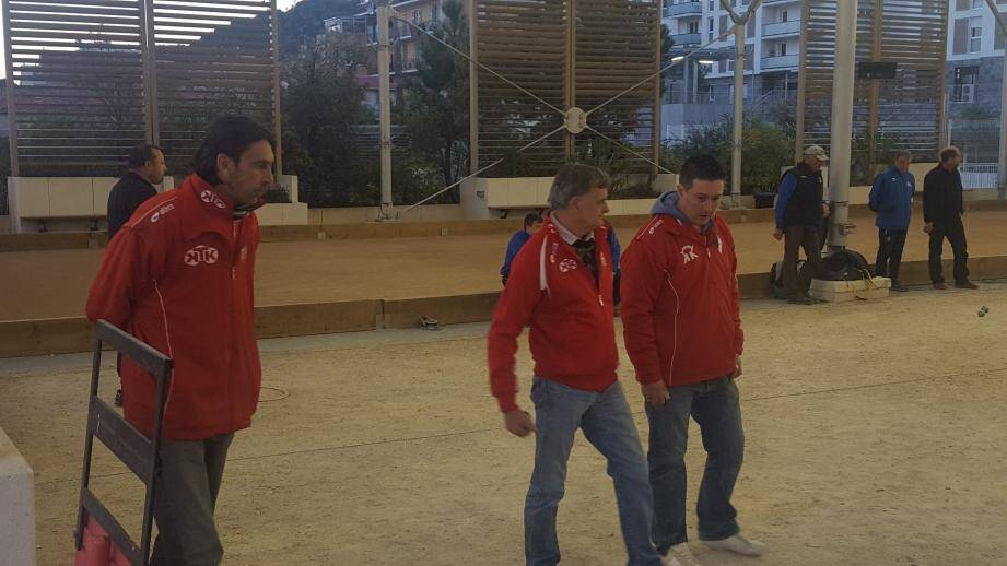 Les Monégasques vainqueurs de la finale A du concours Crovetto.