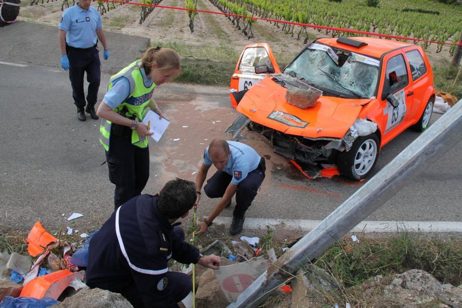 Lors de l'accident survenu en 2012 sur le rallye du plan de la Tour, la brigade de recherche de Saint-Tropez avait procédé à des relevés.