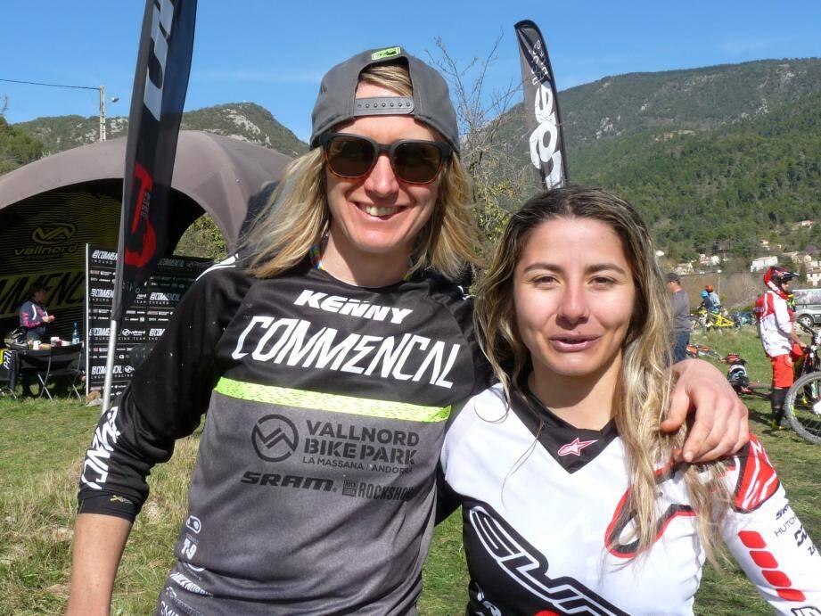 Cécile Ravanel et Isabeau Courdurier ont toutes les deux commencé par le cross-country avant de poursuivre leur carrière en enduro.