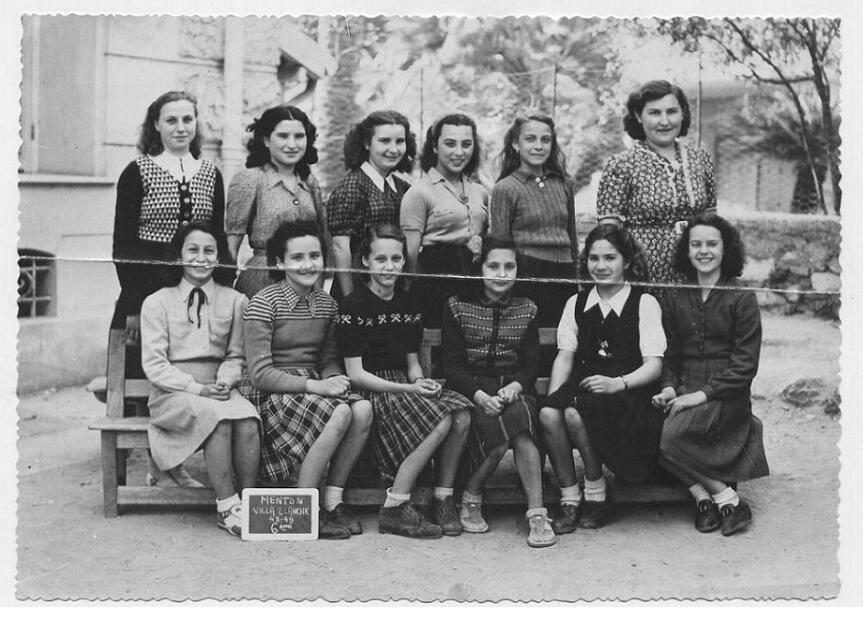 Une photo de classe en 1948.