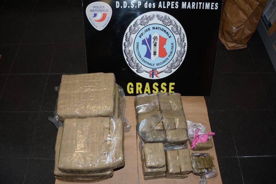 La marchandise a été retrouvée aux abords de  l'hôpital Clavary de Grasse.(DR)
