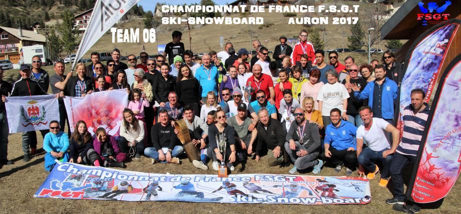 """Le """"Team 06"""" revient avec 77 médailles d'Auron.(DR)"""