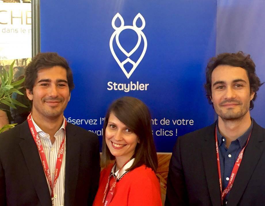 Les jeunes créateurs de la start-up Staybler ne cessent de galoper d'un salon à l'autre pour présenter leur concept. (DR)