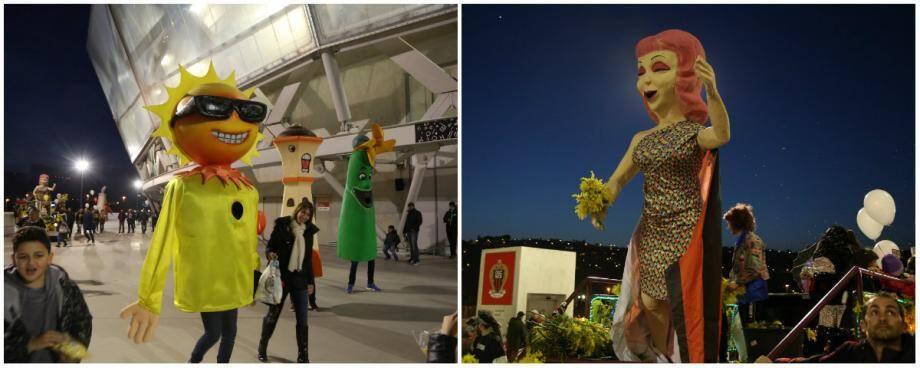 Le défilé autour du stade, coloré à souhait, a donnéle ton de cette soirée de fête.