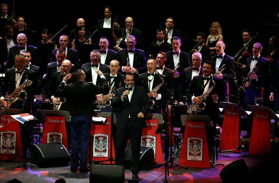 Le concert du bicentenaire des Carabiniers du Prince avec l'Orchestre Philharmonique de Monte-Carlo.