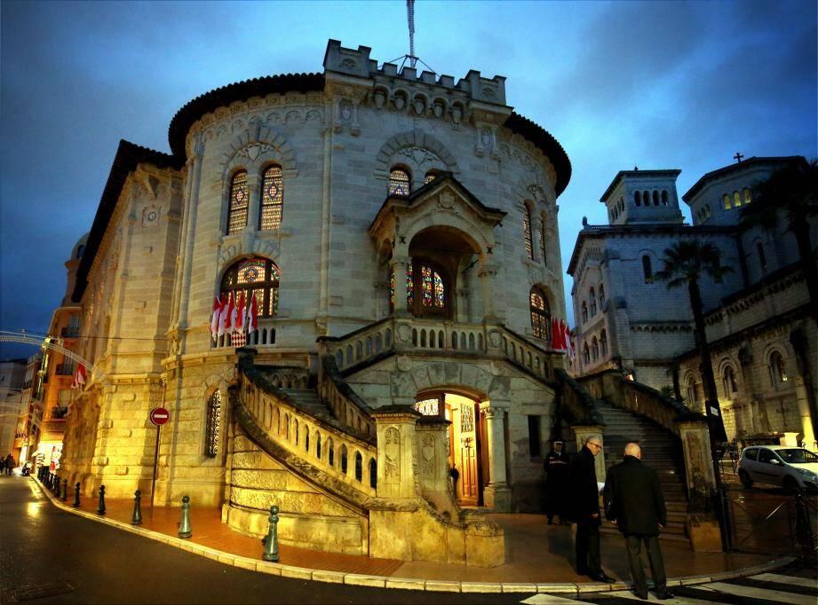 Le palais de justice à Monaco.