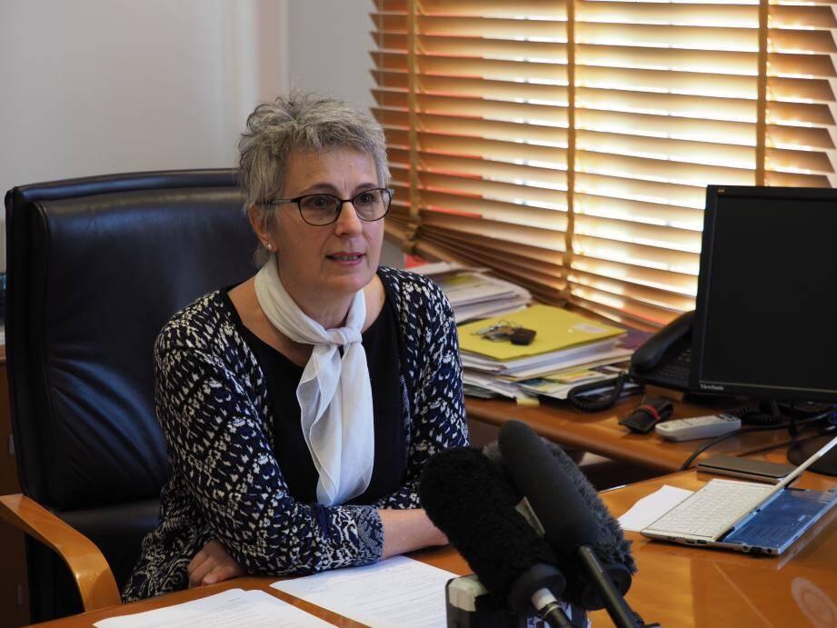 Guilaine Debras, maire de Biot.