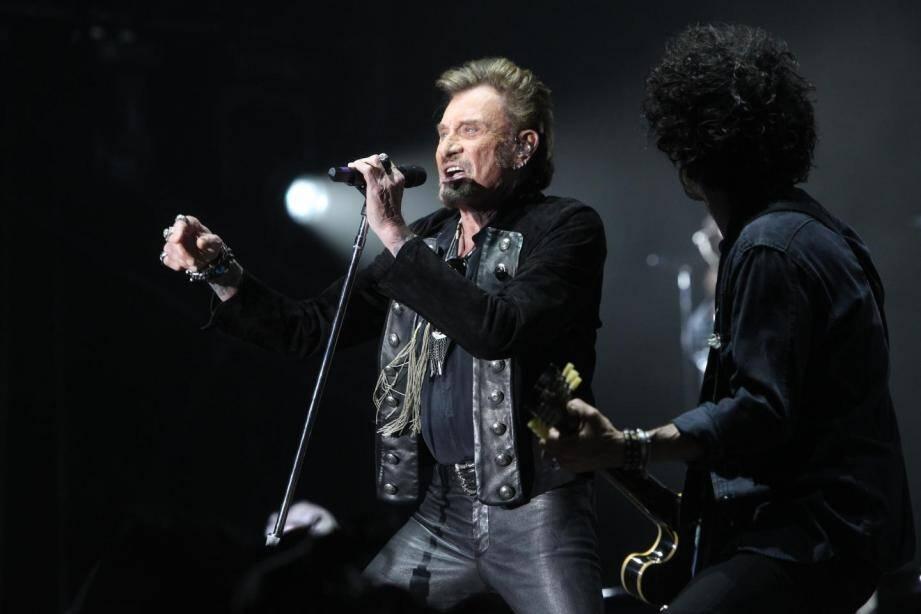 Johnny lors d'un concert dans le Var.