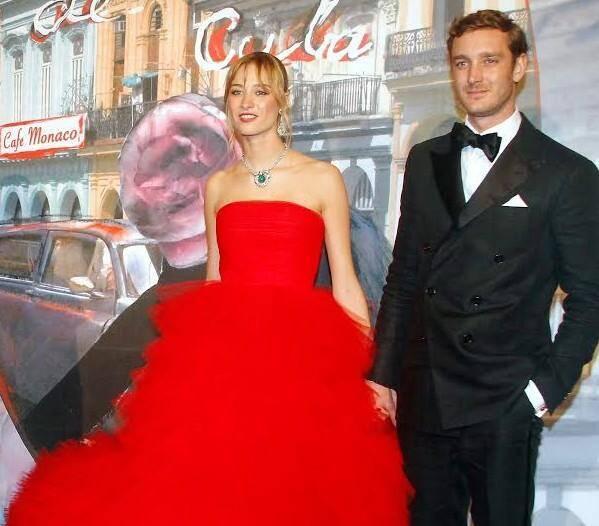 Béatrice et Pierre Casiraghi au Bal de la rose en mars 2016.