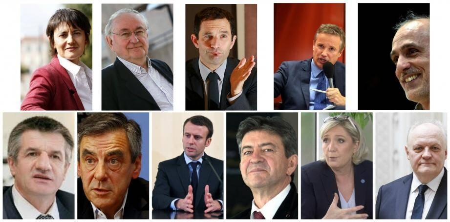 Les 11 candidats à l'Elysée
