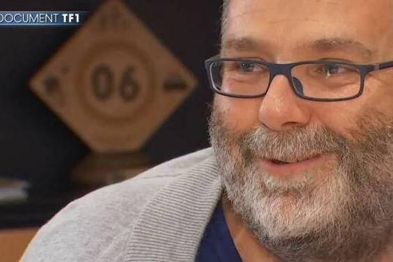 Hervé Pizzinat lors de son entretien à TF1 après son opération.