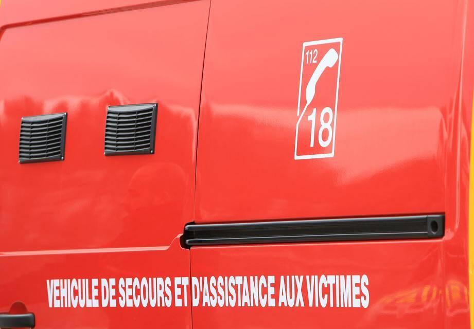 Une ambulance des pompiers.