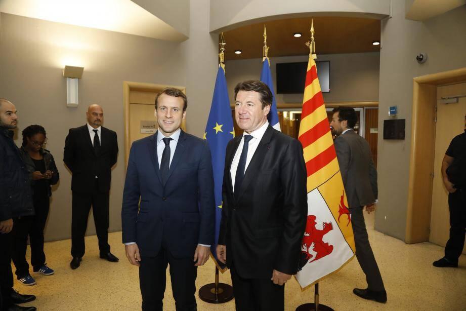La rencontre Estrosi-Macron : une manœuvre pour le candidat d'« En marche ! » pour séduire  à droite ?