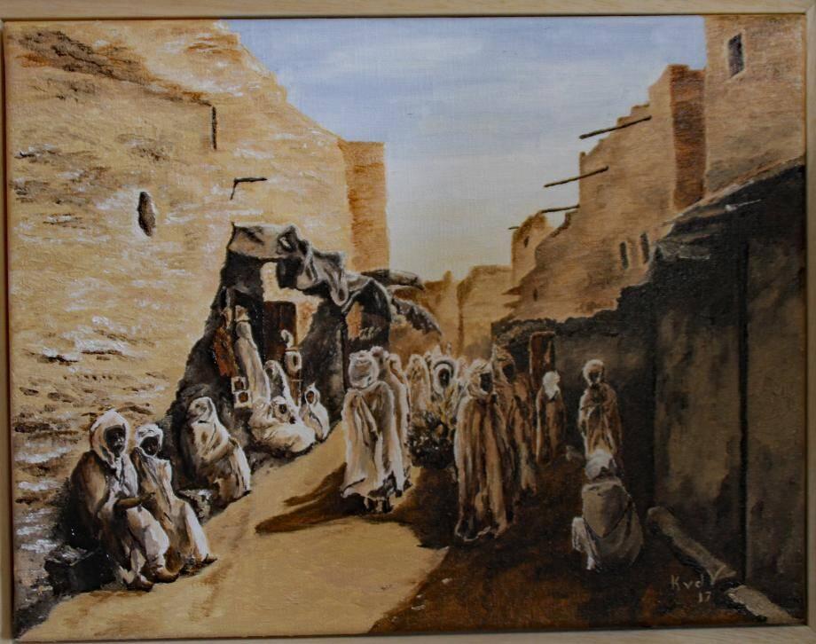 Scène de rue, le dernier tableau de l'artiste.