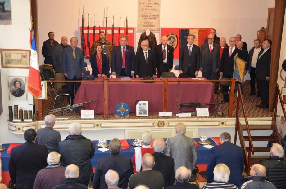 Le nouveau président L'Union nationale des anciens combattants UNC-AFN section Beausoleil, Monaco, Cap-d'Ail est Marc Terrosi.