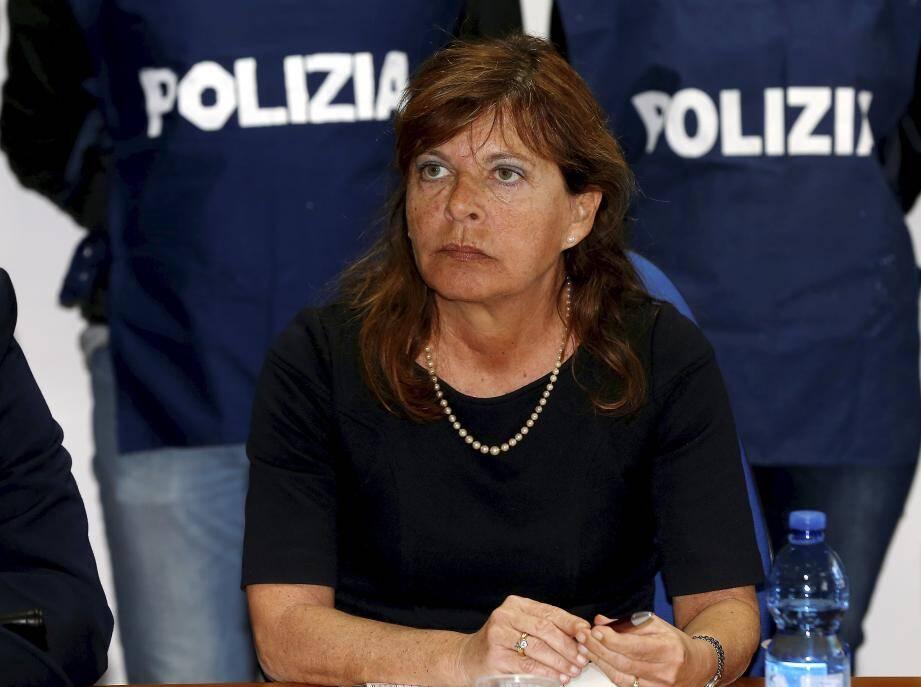Le procureur d'Imperia, Grazia Pradella.