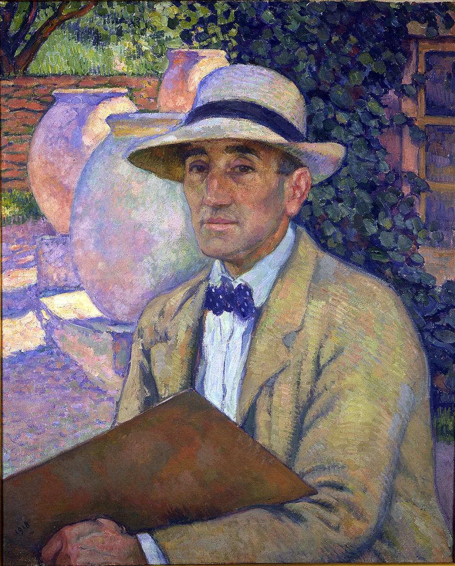 Autoportrait du peintre Théo Van Rysselberghe.
