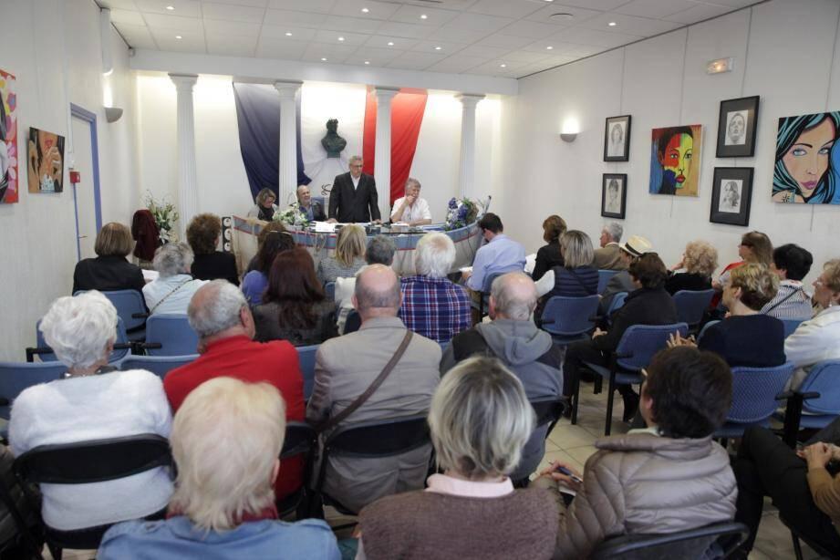 Ils étaient nombreux, vendredi, à assister à l'assemblée générale de l'APPC, en mairie annexe du Cros-de-Cagnes, en présence d'élus.
