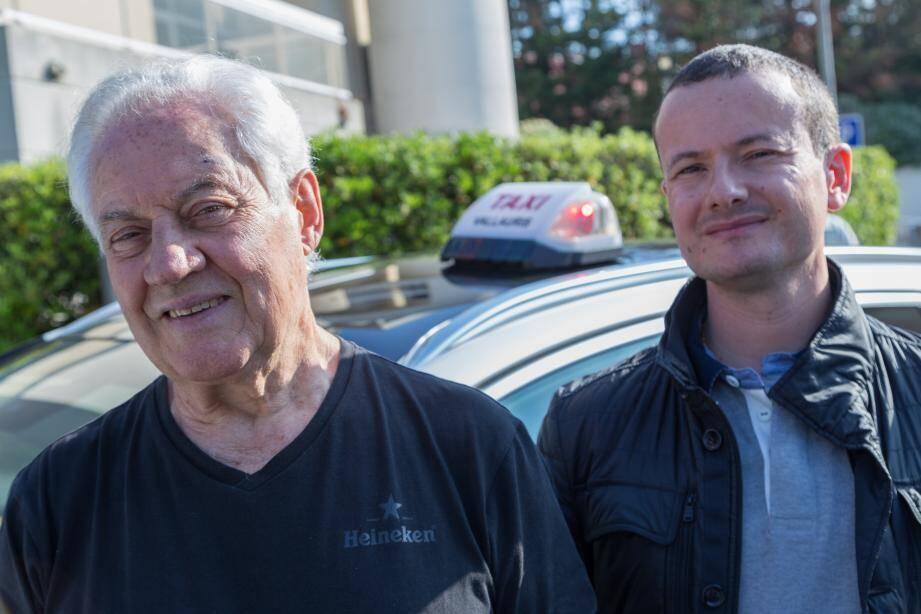 Joseph et Emmanuel Barroso, chauffeurs de taxi à Vallauris, proposent de transporter gratuitement les électeurs qui ne peuvent pas se déplacer et qui ont peu de moyen.
