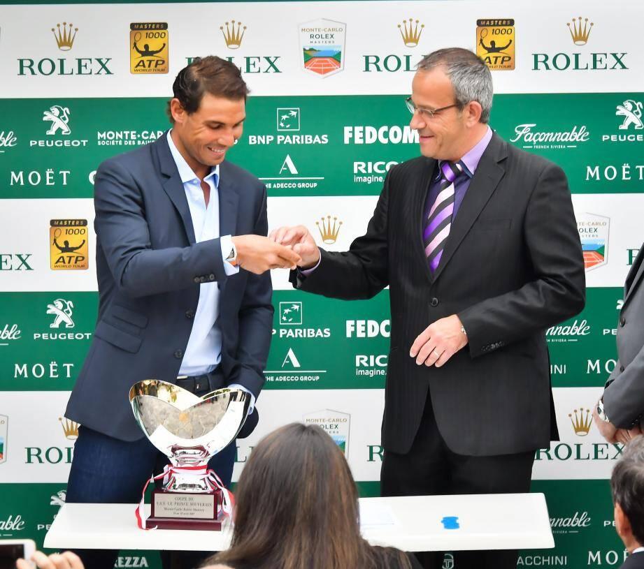 L'Espagnol Rafael Nadal a procédé au tirage au sort du tableau, hier soir. L'ancien numéro 1 mondial, tenant du titre, visera un dixième titre cette année sur l'ogre du Monte-Carlo Country Club.