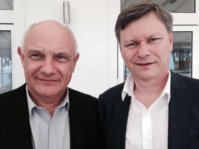 Honoré Ghetti et Philippe Renaudi, vice-président  et président de l'UPE 06.