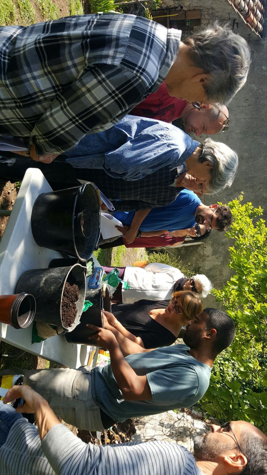 Après l'atelier semis (ci-dessus), Les Ruchers des Baous invite à découvrir l'apiculture.