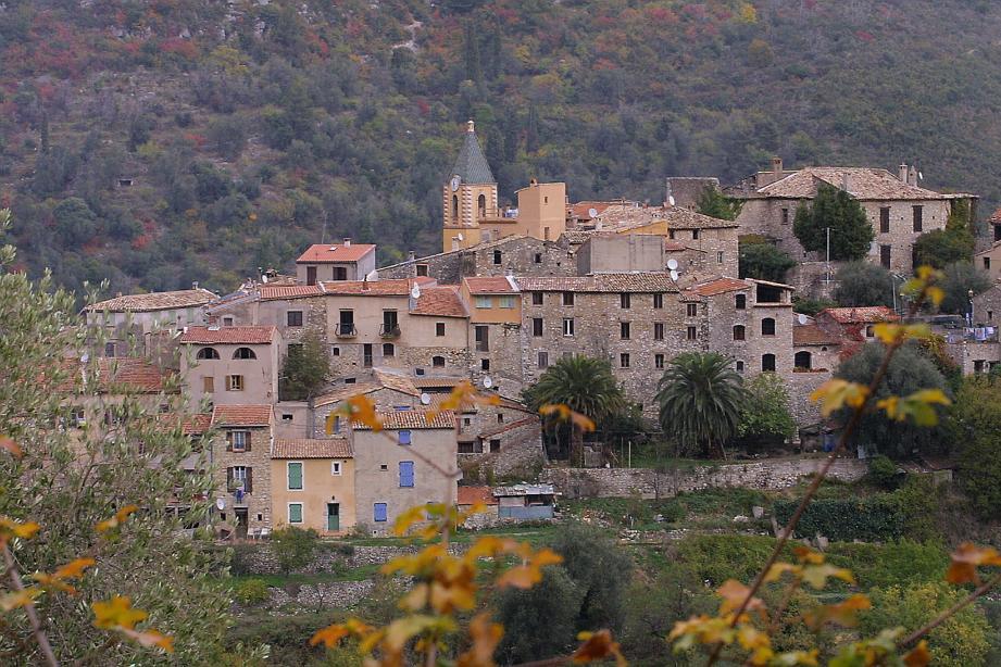 Une vue du village de Gorbio