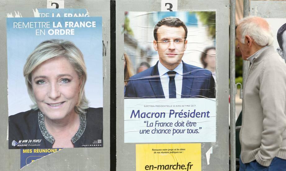 Panneaux d'affichage de l'élection présidentielle