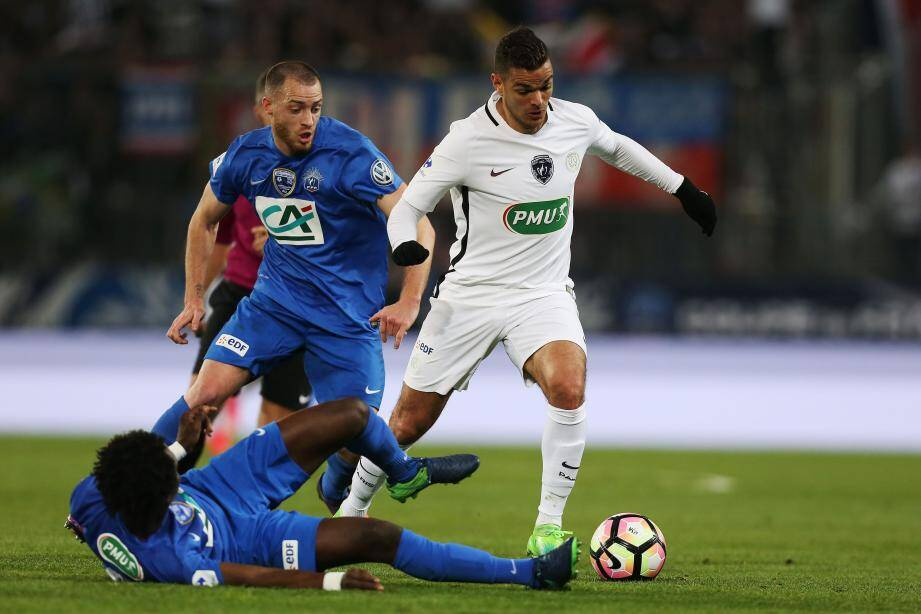 Deux buts et une passe décisive : Hatem Ben Arfa a fait le job contre Avranches, hier. Paris retrouvera Monaco en demi-finale de la Coupe de France.