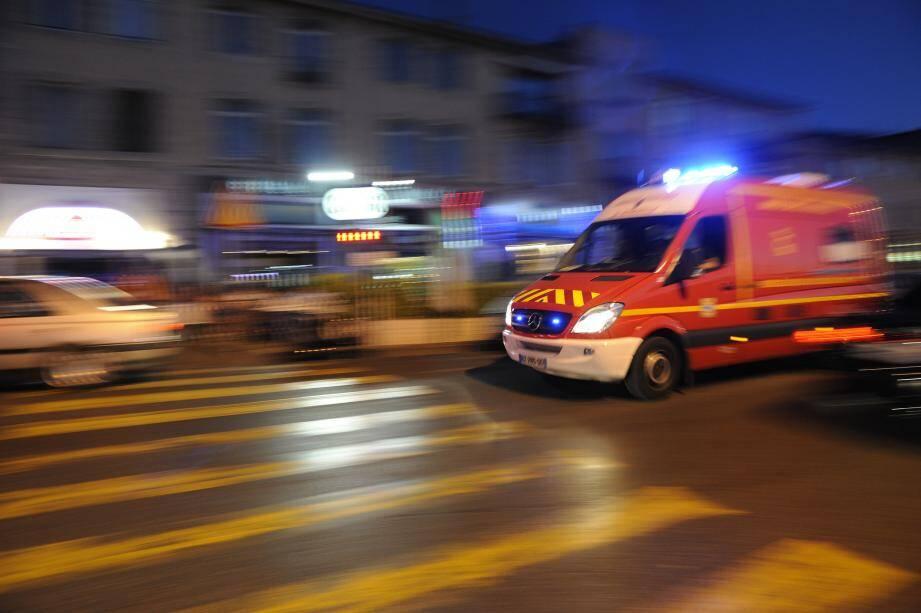 Illustration d'une ambulance des pompiers.