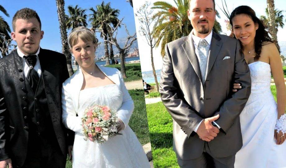 Félicitations aux heureux mariés