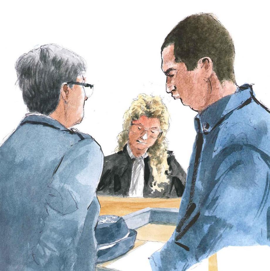 Face à Me Julie Blanchard, qui représente la famille de la victime, le major Lecluse a déroulé le fil de l'enquête, sous le regard de David Ruffato.