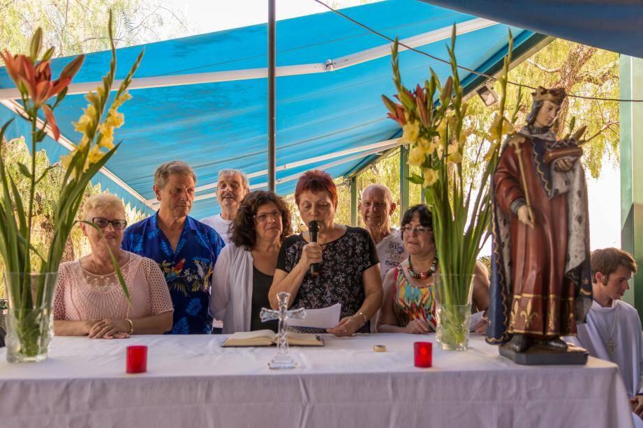 Lors de la fête patronale, l'an dernier, Maryse Scourzic remerciait tous les participants.