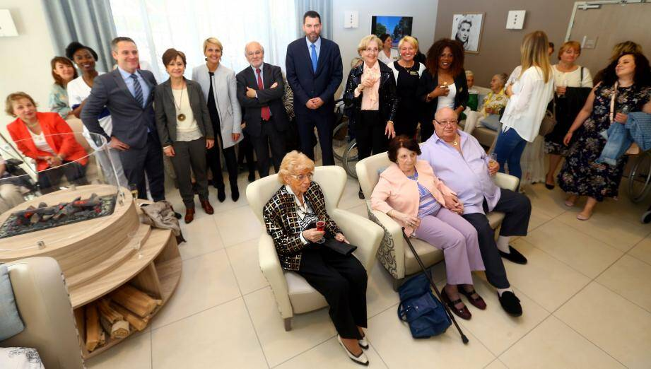 Résidents et membres du personnel ont fêté le premier anniversaire de la Villa Gallia.
