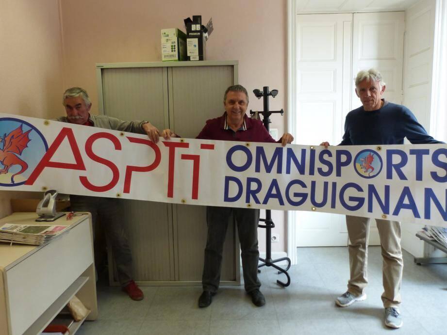 Philippe Francisci, Claude Bourgeais et Jean-Michel Achard à l'origine de l'initiative.