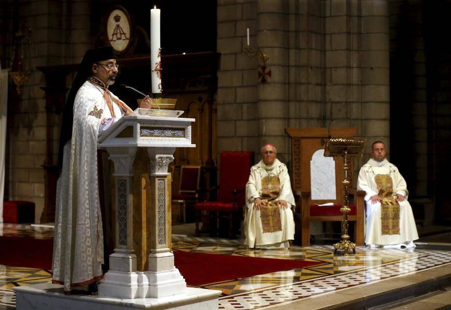 En présence du souverain, le Patriarche a donné un éclairage historique sur la petite communauté copte catholique.
