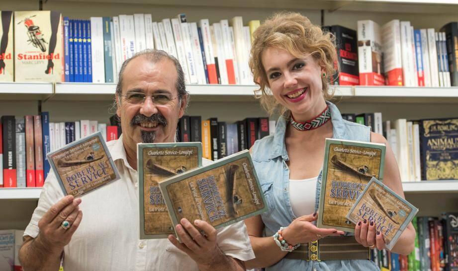 Jean-Michel Goupillou a accueilli Charlotte Service-Longépé  à la libraires « Les Mandarins ».