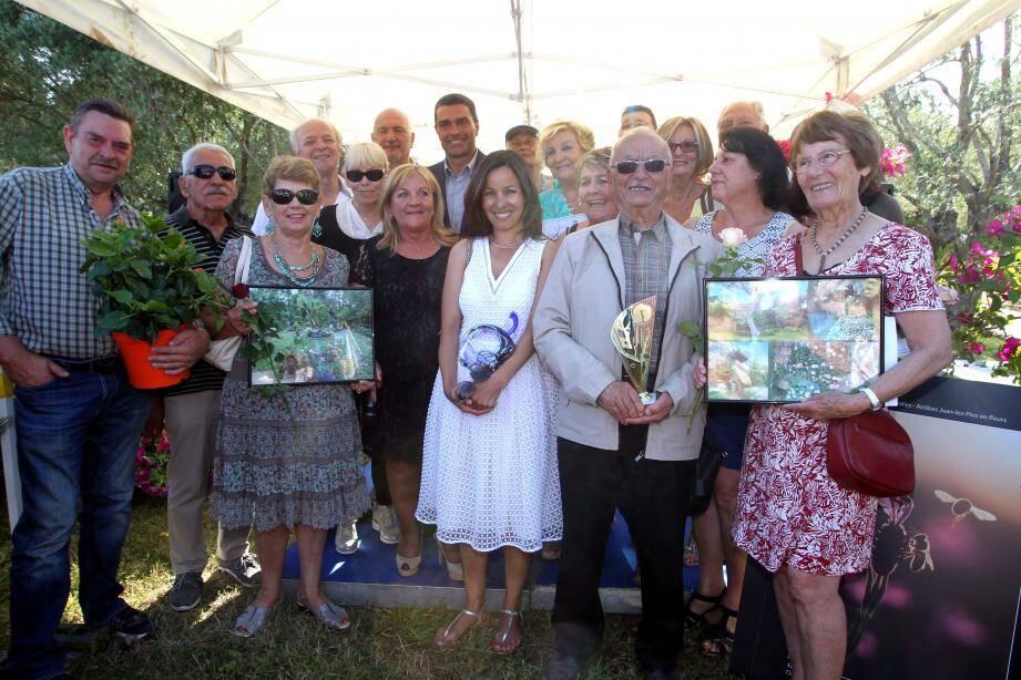 Les gagnants du concours Balcons et jardins fleuris ont clôt la seconde édition des Floralies, dimanche, à la Villa Eilenroc.